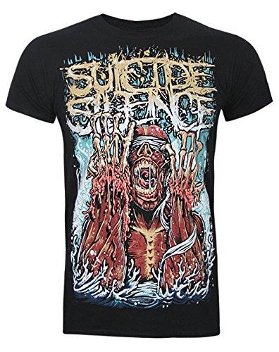 Official Suicide Silence Meltdown Men's T-Shirt (S) (Suicide Silence T Shirt Pull The Trigger)