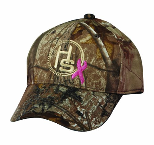 Hunters Specialties Women's Breast Cancer Ribbon Baseball Cap (Realtree AP HD/Camo)
