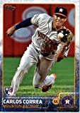 2015 Topps Update #US174 Carlos Correa Baseball Rookie Card in Protective Display Case