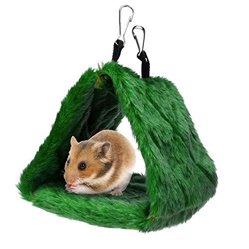 succeedtop Chinchilla Hedgehog Guinea Pig Bed Accessories Cage Toys House Supplies Habitat Ferret Rat Bird Hammock Hanging Cave Cage Plush Warm Happy Hut Tent Bed Bunk Parrot Toy - Hammock Tent Ferret