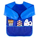 Kuuqa Waterproof Children Art Smock Kids Art Aprons with 3 Roomy Pockets,Painting Supplies (Paints and brushes not included)