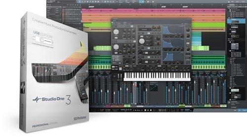 PreSonus Studio One 3 Professional: Box w/ License & USB Media - 1 Studio 3