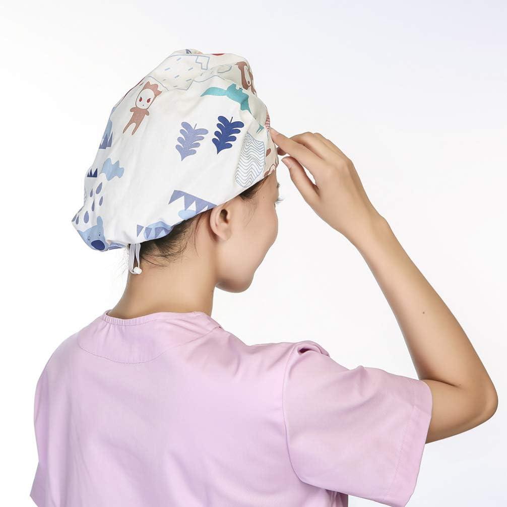 Stile 1 PRETYZOOM Berretti Chirurgici Regolabili Cappelli Bouffant Copricapo Copricapo Cappello per Medico Infermiere Chef Laboratorio Uomini Donne