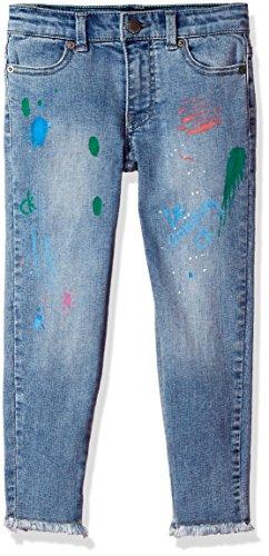 Calvin Klein Little Girls' Splatter Boyfriend Jean, Vintage, - Jeans Klein Vintage Calvin