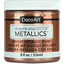 Decoart DECADMTL-36.3 Ameri Deco Mtlc 8oz Rose Gold Americana Decor Metallics 8oz Rose Gold
