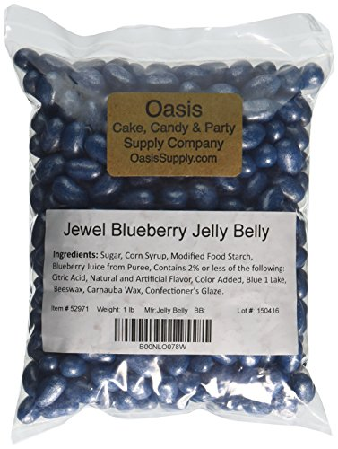 Jelly Belly Jewel Jelly Beans, Blueberry, 1 Pound
