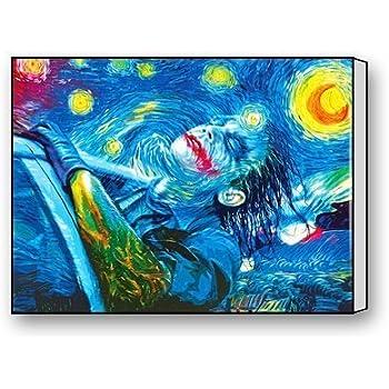 f9b3ee525fe8b2 Fashion Joker Starry Night Canvas Print 16