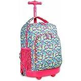J World Sunny Rolling Backpack Floret