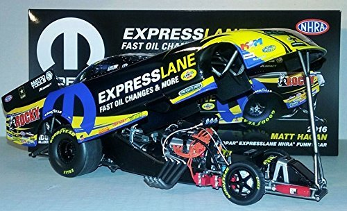 !! 2016 Matt Hagan Mopar EXPRESSLANE Dodge Charger RT Funny Car diecast 1/24th scale replica Don Schumacher Racing