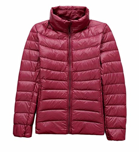 Down Wine Stand Warm Generic Collar Women's Jacket Red Puffer Padded gw8HqvxCY