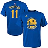 Klay Thompson Youth Golden State Warriors Blue Name and Number Jersey T-shirt Small 8
