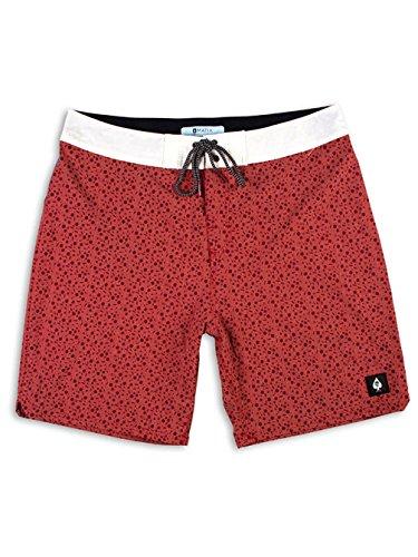 Matix Clothing Company Men's Stopnik Boardshorts Rust 38 - Short Matix Clothing