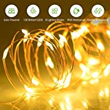 Mpow Solar String Lights, 33ft 100LED Outdoor