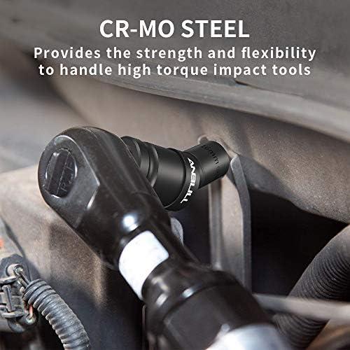 "ANBULL 1/2"" Drive 6 Pt.11pc Standard Universal Impact Socket Set Cr-Mo Steel,metric"