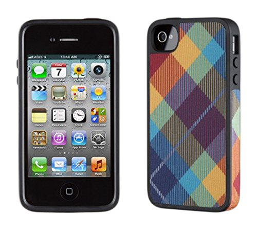 Speck Products SPK-A1010 FabShell Fabric Hard Shell Case for iPhone 4/4S - 1 Pack - Carrying Case - Retail Packaging - MegaPlaid Spectrum