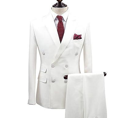 05c803076b Amazon.com  Mens Double Breasted Blazer Jackets Wedding Groomsmen ...