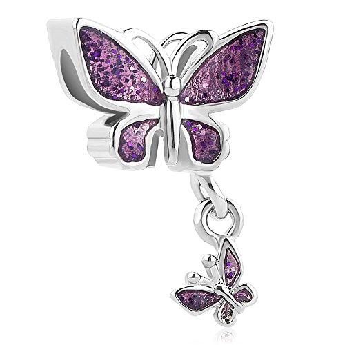 Beautiful Charm Butterfly - LuckyJewelry Animal World Butterfly Charms Beads for Charm Bracelets