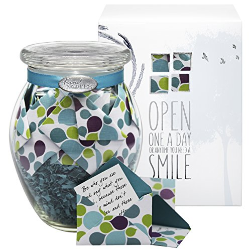 KindNotes INSPIRATIONAL Keepsake Gift Jar of Messages for Him or Her Birthday, Thank you, Anniversary, Just Because – Colorful Splash