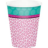 Creative Converting 317280 96 Count 9 oz Hot/Cold Paper Cups, Sparkle Spa Party!