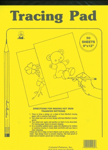 Aunt Martha's 8.5-Inch by 12-Inch Tracing Paper, 50-Sheet