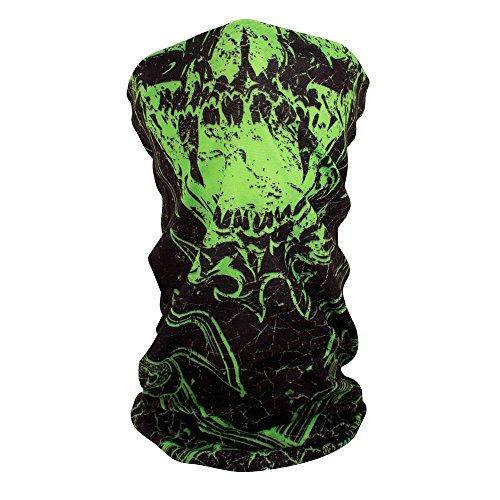 ZANheadgear Motley Tube, 100% Polyester, Green Torn ()