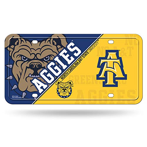 NCAA North Carolina A&T Aggies Metal License Plate Tag ()