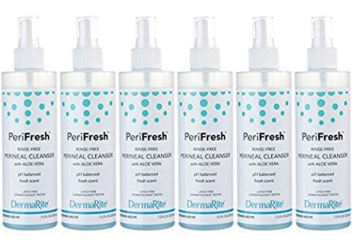 Dermarite PeriFresh Rinse-Free Perineal Cleanser 7.5 Ounces (Pack of 6)