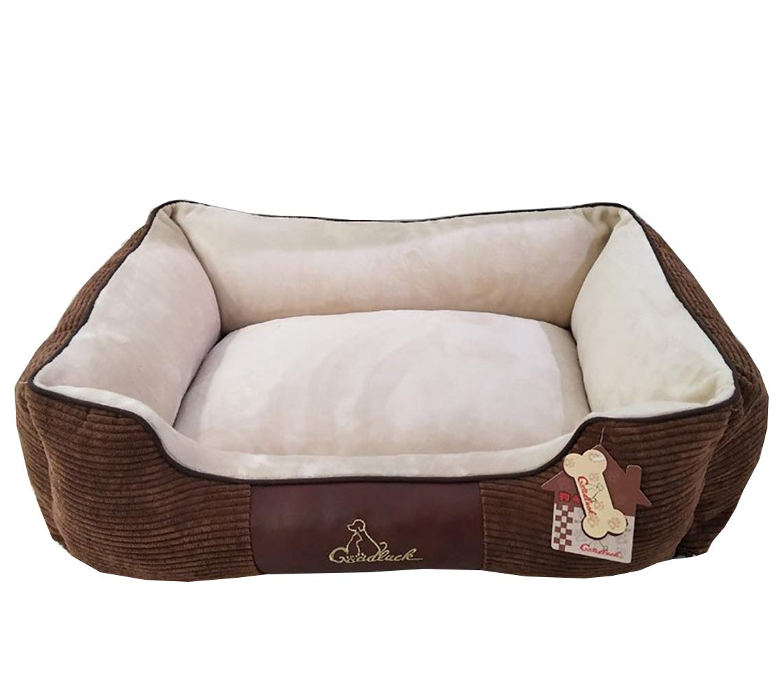 C 100X70X30CM C 100X70X30CM AHDA Pet Bed, Premium Plush Animal Bed, Faux Fur and Faux Suede, Fully Washable, Full Size,C,100X70X30CM