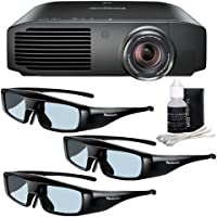 Panasonic PT-AE8000U 1080p Full HD 3D Home Theater Projector + 3 Pairs of Panasonic 3D Glasses + Deluxe 3pc Lens Cleaning Kit DavisMax Bundle
