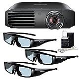 Panasonic PT-AE8000U 1080p Full HD 3D Home Theater Projector + 3 Pairs of Panasonic 3D Glasses + Deluxe 3pc Lens Cleaning Kit DavisMax Bundle