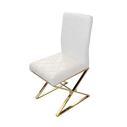 Furniture De Lrzs Lujo Silla Ligera Acero Comedor Inoxidable AL3qc54RjS