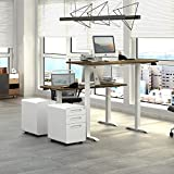 DEVAISE 3 Drawer Metal Mobile File Cabinet with