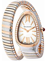 Serpenti Tubogas Silver Opaline Dial Quartz Ladies Watch 102237