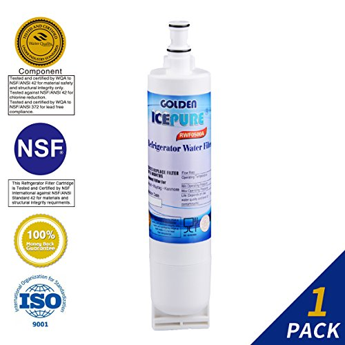 Golden Icepure 4396508 Refrigerator Water Filter Replacement for Whirlpool 4396508, 4396510, Kenmore 46-9010 (1-Pack)