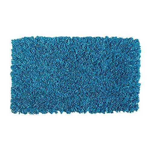 OCM Aqua 5x7 Shimmery Shag Area Rug, Perfect for College Residence Hall Dorm Rooms, bedrooms and More, Soft Micro Poly shag, with no-Skid Backing
