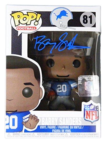 Barry Sanders Signed Detroit Lions NFL Legends Funko Pop Doll - Autographed NFL Figurines ()