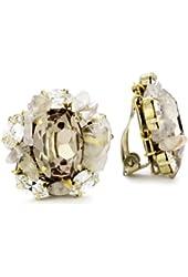 """Anton Heunis """"Grace Kelly"""" Crystal Cluster Clip Earrings"""