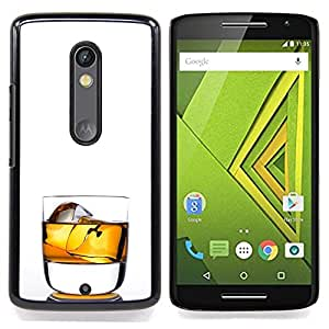 - Whiskey Rocks Drink Alcohol Gold - - Snap-On Rugged Hard Cover Case Funny HouseFOR Motorola Verizon DROID MAXX 2 / Moto X Play