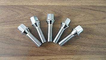 Set of 10 Bolts M12x1.5 Chrome Lug Bolts 35mm Shank Length Cone Seat M12x1.5