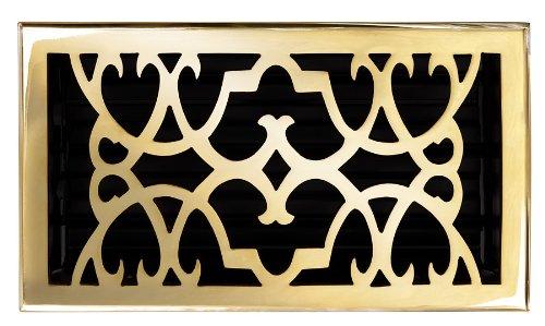 Brass Elegans 120GR-PLB Solid Cast Brass Victorian 6-Inch by 10-Inch Floor Register, Polished Brass Finish Model