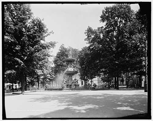 Rapids Park Grand - Vintography 8 x 10 Ready to Frame Pro Photo of Fountain Fulton St Park i e Fulton Park Grand Rapids Mich 1902 Detriot Publishing 18a