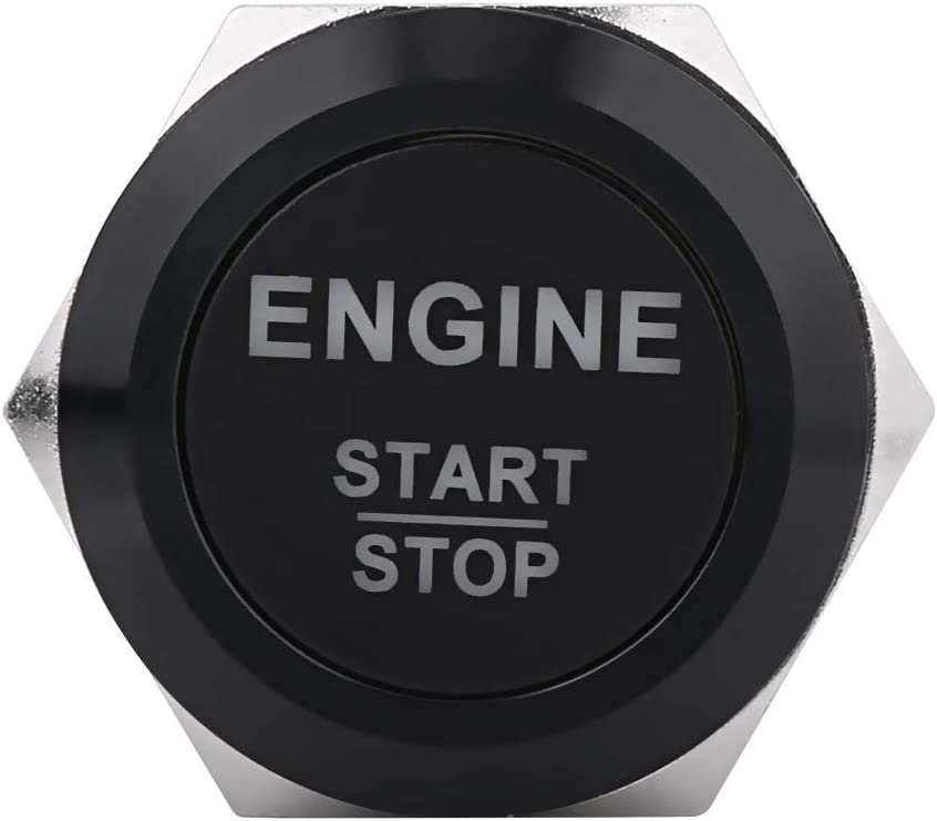 Engine Start Stop Push Button Car Engine Starter Button Ignition Switch for Ignition Activation Black Zinc Aluminum Alloy