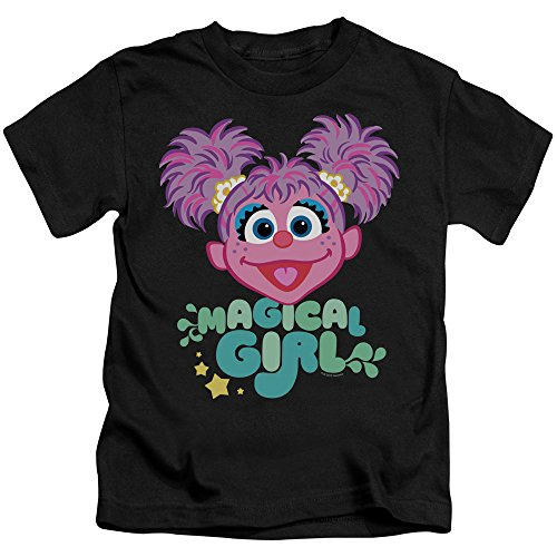 Sesame Street Scribble Head Unisex Youth Juvenile T-Shirt for Girls and Boys, Medium (5/6) Black
