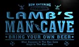 qd1477-b LAMB's Man Cave Soccer Football Bar Neon Beer Sign