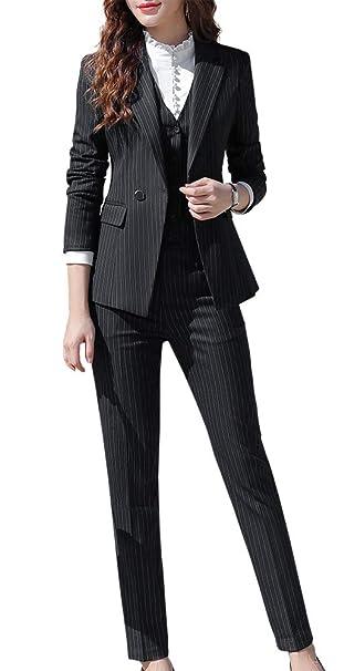 Amazon.com: Conjunto de traje de oficina para mujer, 3 ...