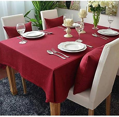 Tablecloth Mantel de algodón Tejida Europa Impresa en Rojo sólido Home/Exterior/Parte Size:60 * 60-140 * 220 Navidad Manteles para Mesa Bugaboo,60x60: Amazon.es: Hogar