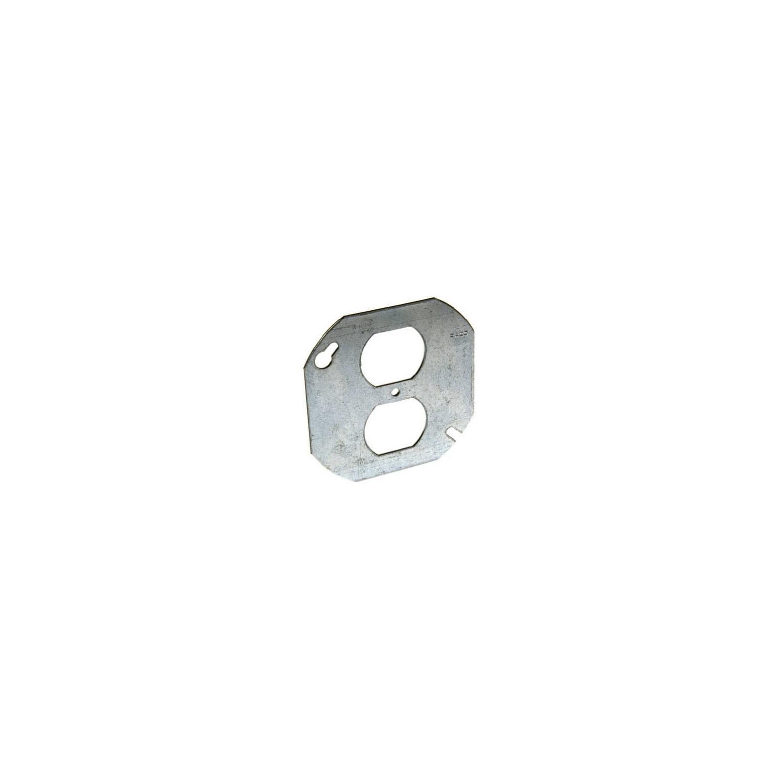 Hubbell Raco 0731 Single Gang Octagon Duplex Box Cover