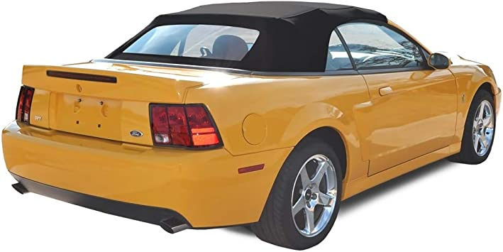 Top Section Only Ford Mustang Convertible Soft Top BLACK Sailcloth 1994-2004