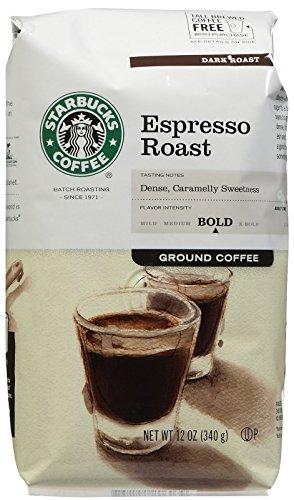 Starbucks Espresso Ground Coffee, 12 oz