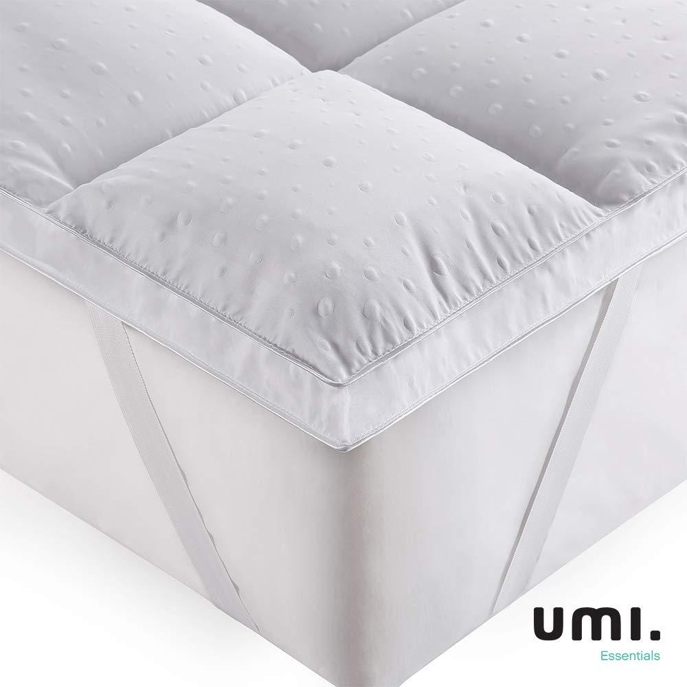 Umi. Essentials 3D Coprimaterasso Imbottito,Coprimaterasso in Microfibra di Poliestere,Morbidezza,antiallergico – 160x200cm Prezzi offerte